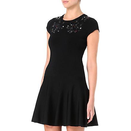 DIANE VON FURSTENBERG Renee knitted black printed dress (Black