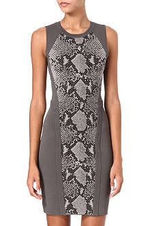 DIANE VON FURSTENBERG Franca snake knit dress