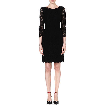 DIANE VON FURSTENBERG Zarita long lace dress (Black