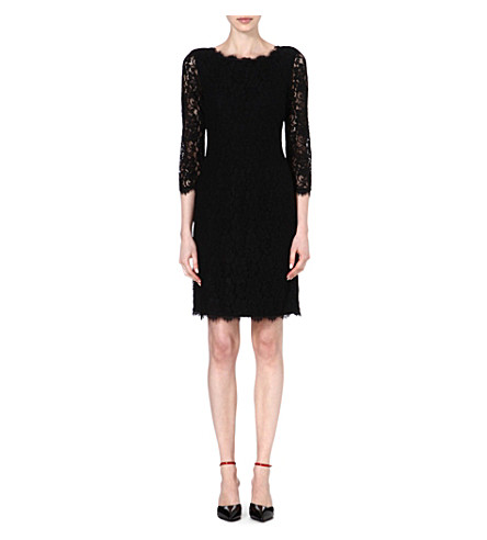 DIANE VON FURSTENBERG Zarita floral-lace dress (Black