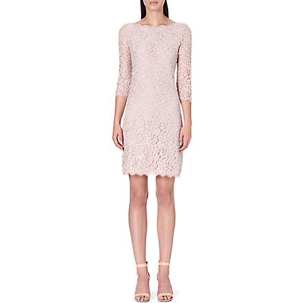 DIANE VON FURSTENBERG Zarita long lace dress (Nude
