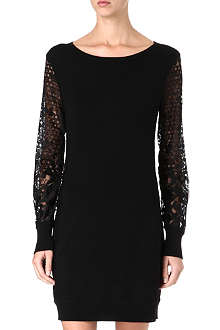 DIANE VON FURSTENBERG Fairmont lace-sleeve knit dress
