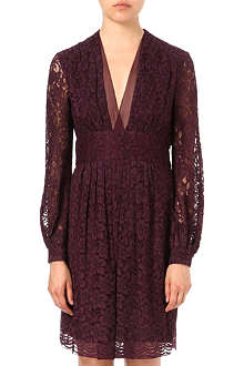 DIANE VON FURSTENBERG Helina lace v-neck dress