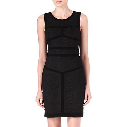 DIANE VON FURSTENBERG Hadya panelled dress (Black