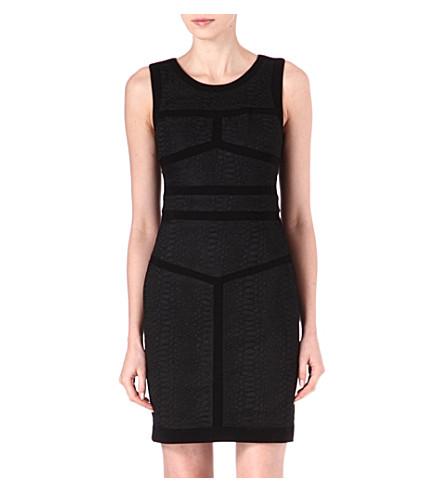 DIANE VON FURSTENBERG Hadya panelled dress (Black