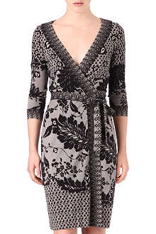 DIANE VON FURSTENBERG Inari lace-print wrap dress