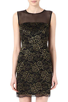 DIANE VON FURSTENBERG Nisha metallic lace dress