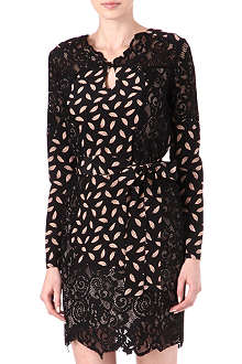 DIANE VON FURSTENBERG Portia lace-panel dress