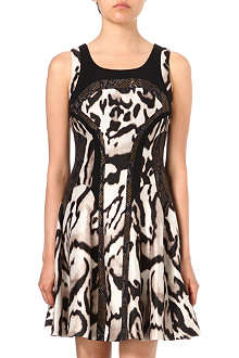 DIANE VON FURSTENBERG Raelin leopard flared dress