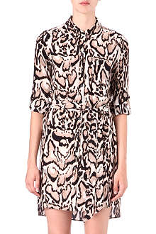 DIANE VON FURSTENBERG Leopard-print silk shirt dress