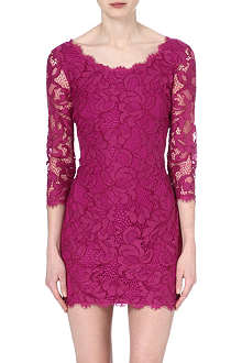DIANE VON FURSTENBERG Zarita scoop-neck lace mini dress