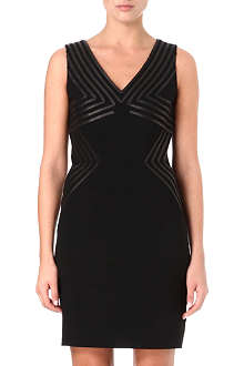 DIANE VON FURSTENBERG Glenda leather trim dress