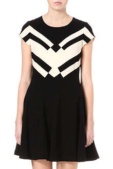 DIANE VON FURSTENBERG Graphic monochrome dress