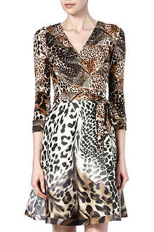 DIANE VON FURSTENBERG Amelia animal-print silk dress