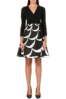 DIANE VON FURSTENBERG Amelia jersey and mikado wrap dress