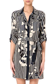DIANE VON FURSTENBERG Polly floral shirt dress