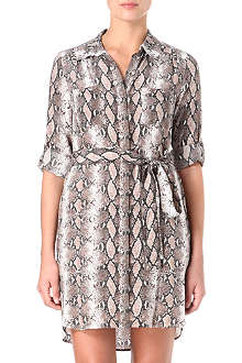 DIANE VON FURSTENBERG Polly snake shirt dress