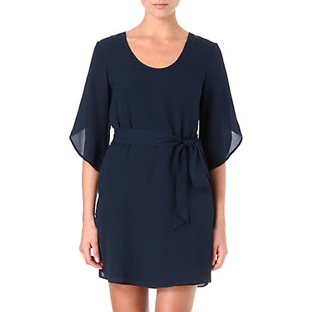 DIANE VON FURSTENBERG Tanna silk belted dress (Navy
