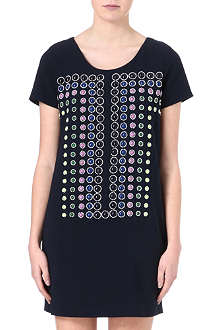 DIANE VON FURSTENBERG Embellished crepe dress
