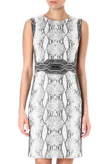 DIANE VON FURSTENBERG Snake-print belted dress