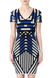 DIANE VON FURSTENBERG Lorraine graphic knitted dress