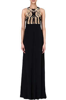 DIANE VON FURSTENBERG Woven top maxi dress
