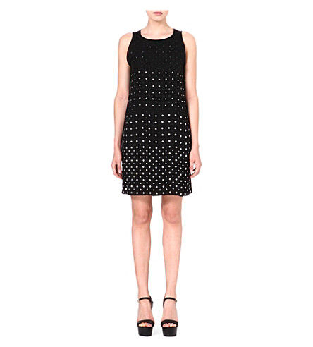 DIANE VON FURSTENBERG Ella embellished silk dress (Black