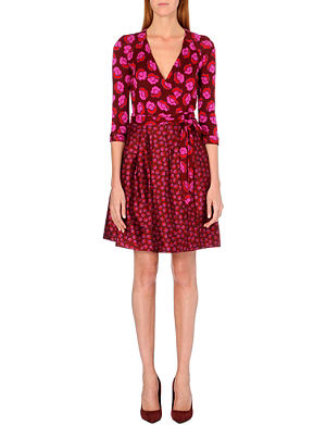 DIANE VON FURSTENBERG Jewel silk wrap dress