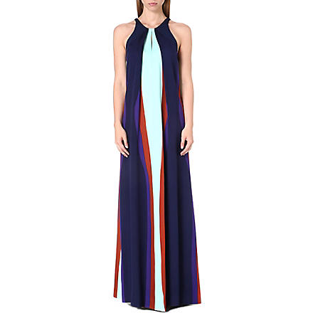 DIANE VON FURSTENBERG Jordan printed silk maxi dress (Mint+/+col+bloc