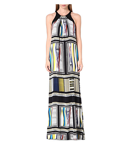 DIANE VON FURSTENBERG Jordan printed silk maxi dress (Glass scarf/black