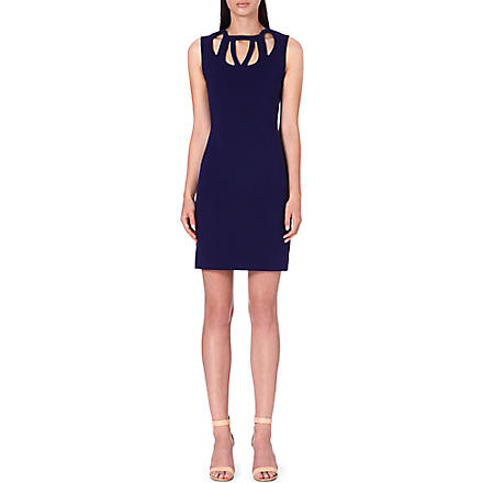 DIANE VON FURSTENBERG Amy cut-out stretch-crepe dress (Purple