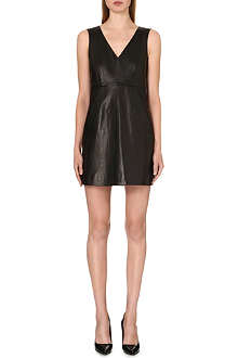 DIANE VON FURSTENBERG Halle leather and jersey dress