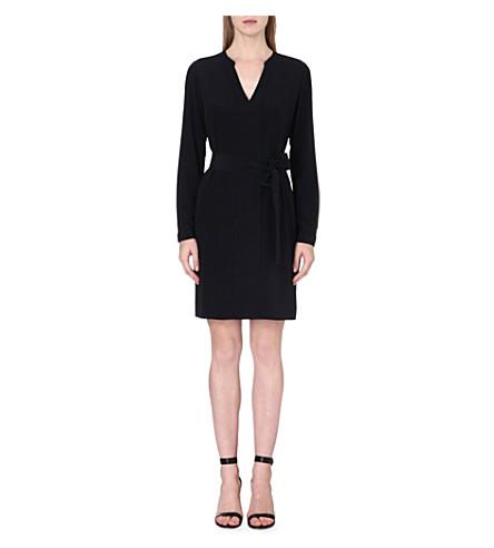DIANE VON FURSTENBERG Hilary belted silk dress (Black