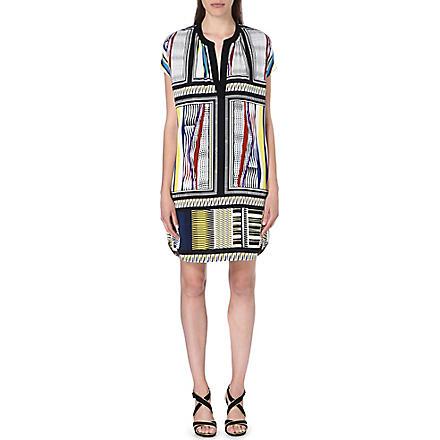 DIANE VON FURSTENBERG Joanna silk tunic dress (Glass scarf/black