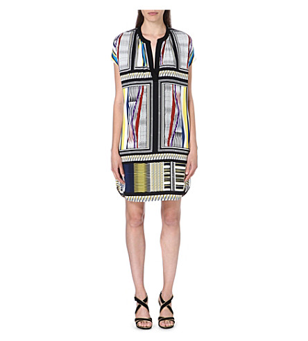 DIANE VON FURSTENBERG Joanna silk tunic dress (Glass scarf/black