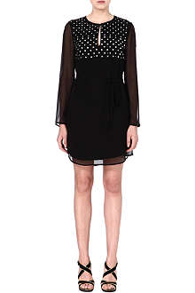 DIANE VON FURSTENBERG Tatum embellished silk dress