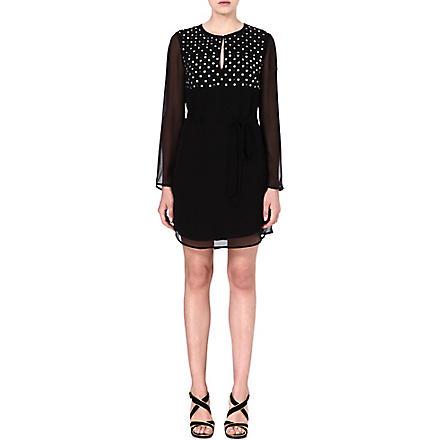 DIANE VON FURSTENBERG Tatum embellished silk dress (Black