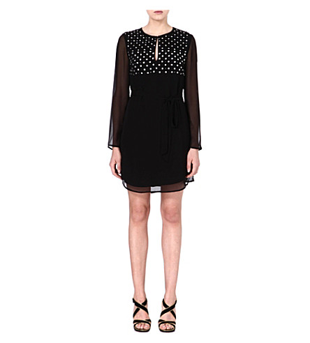 DIANE VON FURSTENBERG Tatum embellished silk dress (Black