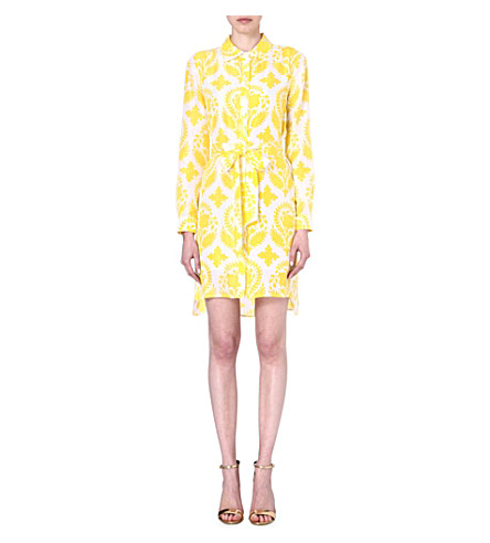 DIANE VON FURSTENBERG Prita printed silk shirt dress (Brocade/yellow