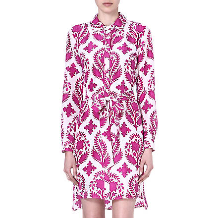 DIANE VON FURSTENBERG Prita printed silk shirt dress (Brocade/purple