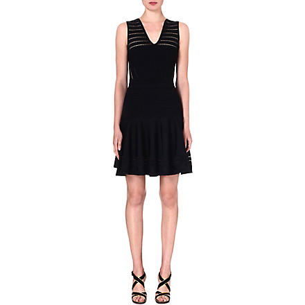 DIANE VON FURSTENBERG Carine knitted dress (Black