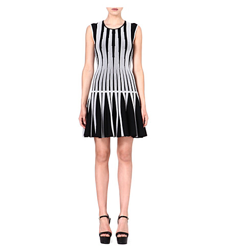 DIANE VON FURSTENBERG Celine knitted dress (Blk/whit