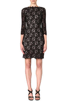 DIANE VON FURSTENBERG Colleen two-toned lace dress