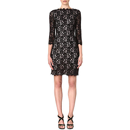 DIANE VON FURSTENBERG Colleen two-toned lace dress (Black