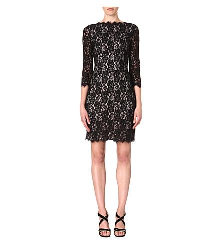 DIANE VON FURSTENBERG Colleen two-toned lace dress (Black