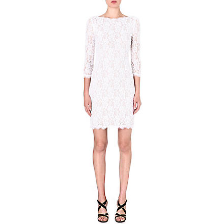 DIANE VON FURSTENBERG Colleen lace dress (White