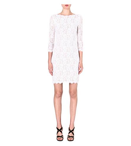 DIANE VON FURSTENBERG Colleen lace dress (White
