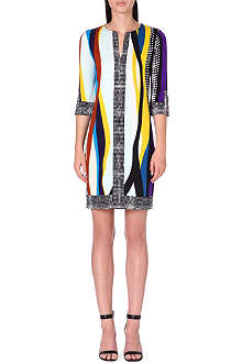 DIANE VON FURSTENBERG Rose printed silk dress