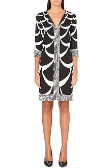 DIANE VON FURSTENBERG Rose silk-jersey tunic dress