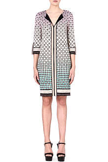 DIANE VON FURSTENBERG Rose patterned silk dress